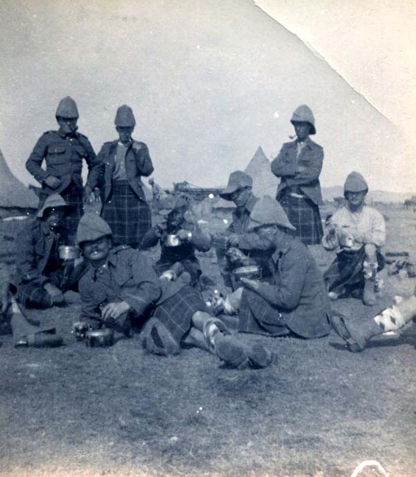Soldiers Dining At Camp, Boer War 1899-1902
