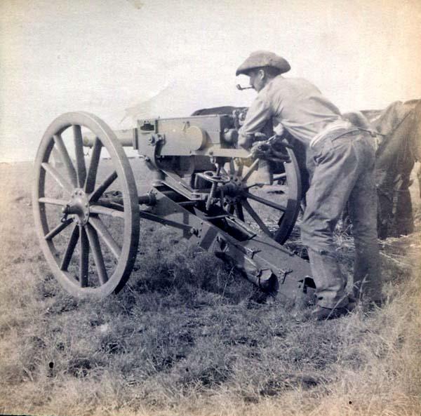 Soldier Manning Field Gun, Boer War 1899-1902
