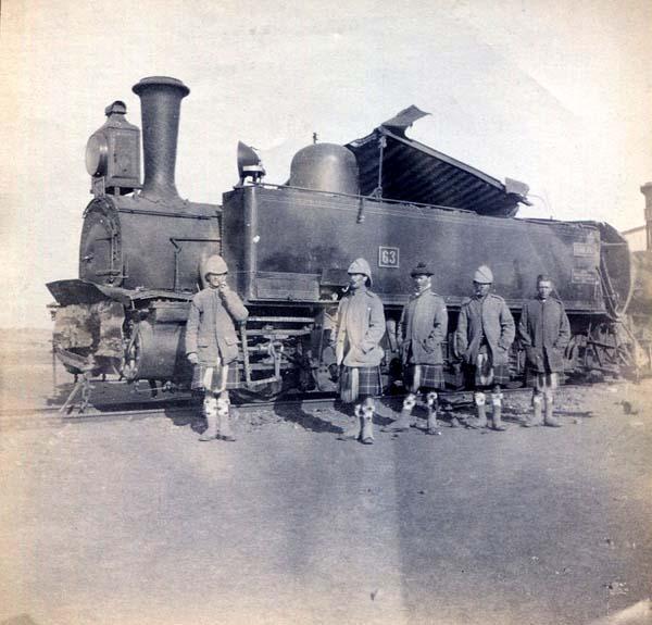 Soldiers Standing In Front Of Steam Locomotive, Boer War 1899-1902