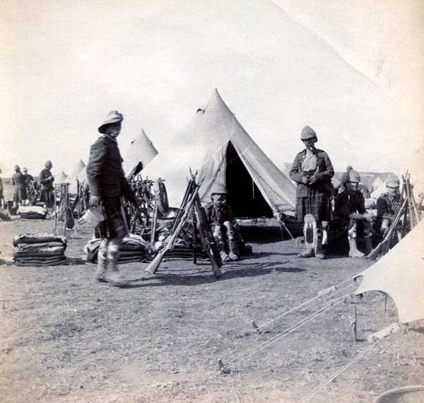Soldiers Resting At Field Camp, Boer War 1899-1902