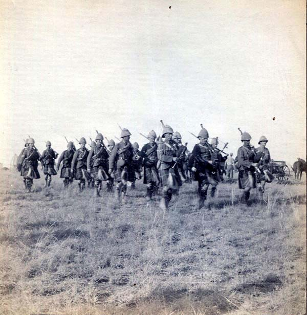 Soldiers Marching Across The Plain, Boer War 1899-1902
