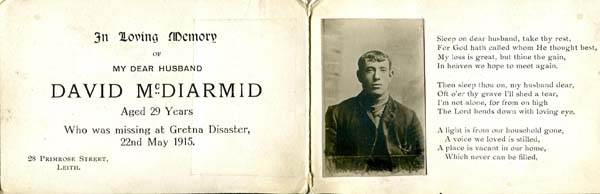 Commemorative Booklet Of Person Missing In The Gretna Rail Disaster, 22 May 1915