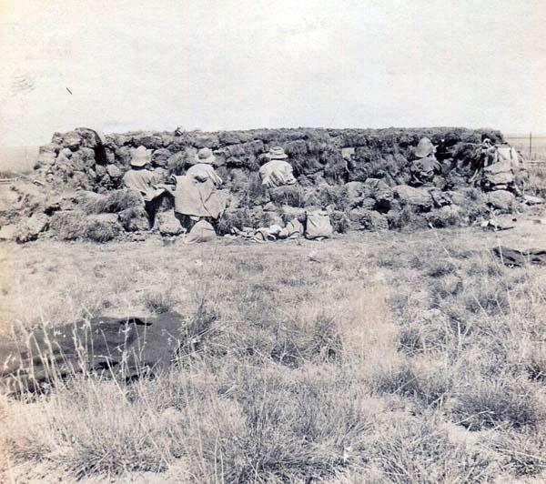 Soldiers Crouch Behind Barricade, Boer War 1899-1902