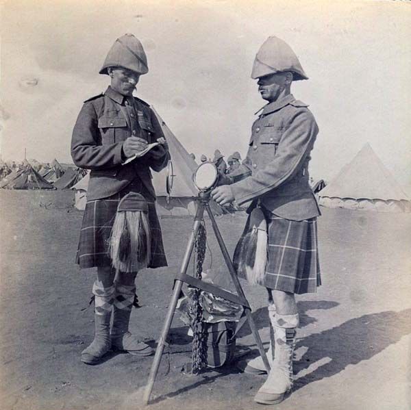 Signal Men At Camp, Boer War 1899-1902