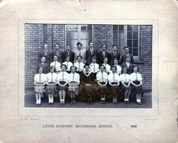Leith Academy Class Portrait 1952