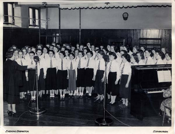Leith Academy Girls Choir BBC Radio Broadcast 1952