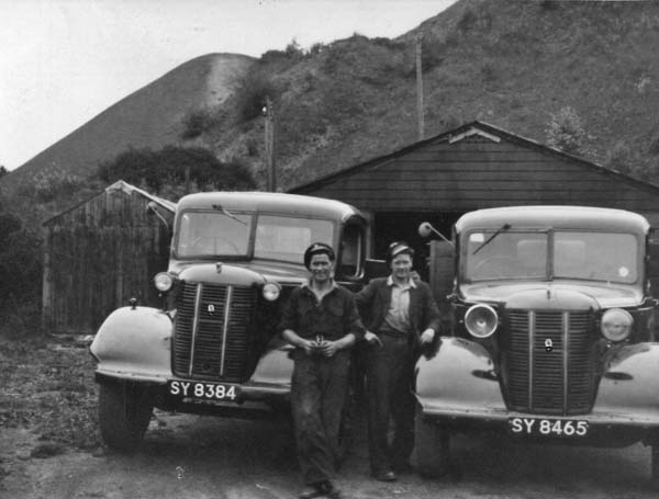 Two Coal Delivery Drivers With Their Lorries c.1950