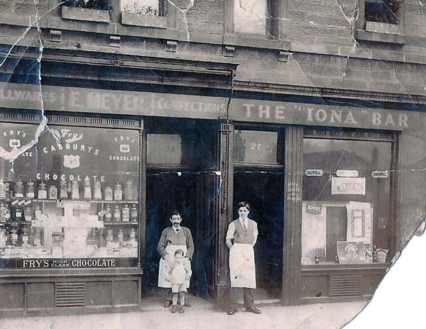 Meyer Family Shop And Bar On Iona Street c.1923