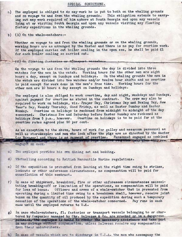 Contract Antarctic Whaling Expedition (page 2) 1937