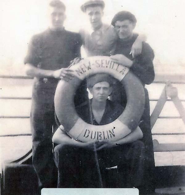 Shipmates On Board Antarctic Whaling Ship The 'New Sevilla' c.1937