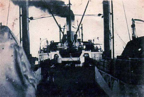 On Board Whaling Ship Looking Toward Funnel c.1937