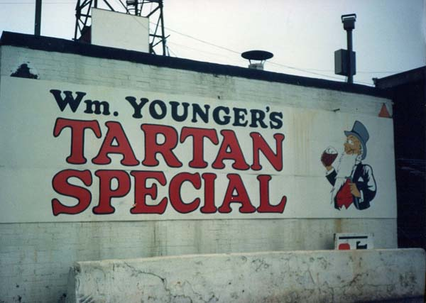 Hoarding For Younger's Tartan Special c.1990