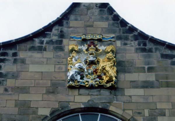 Heraldic Crest At Canongate Kirk c.1999