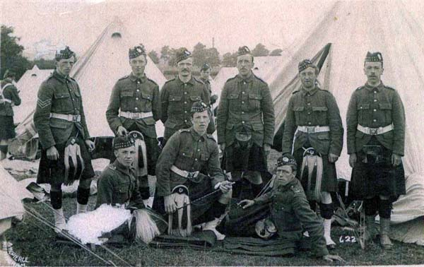 Group Of Soldiers On Camp 1914-18