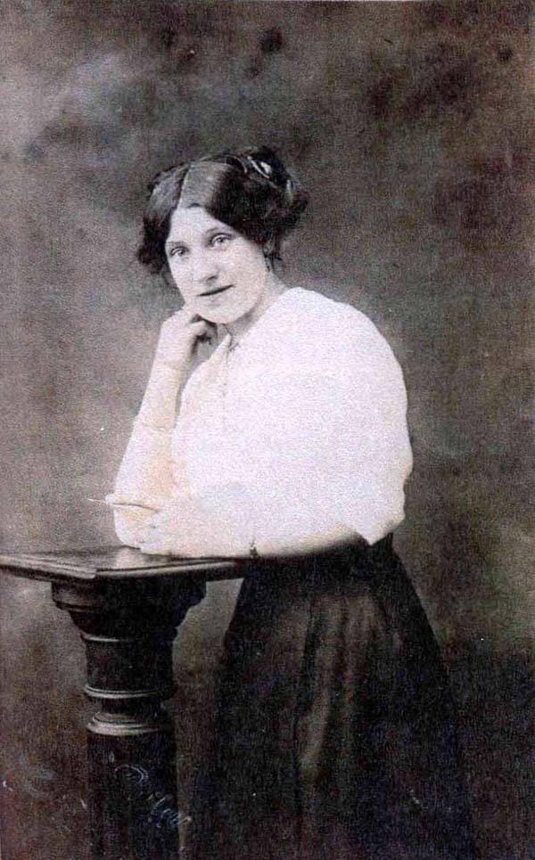 Studio Portrait Young Woman 1910s