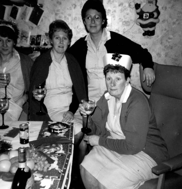 Nurses Celebrating Christmas At Queensberry House c.1980