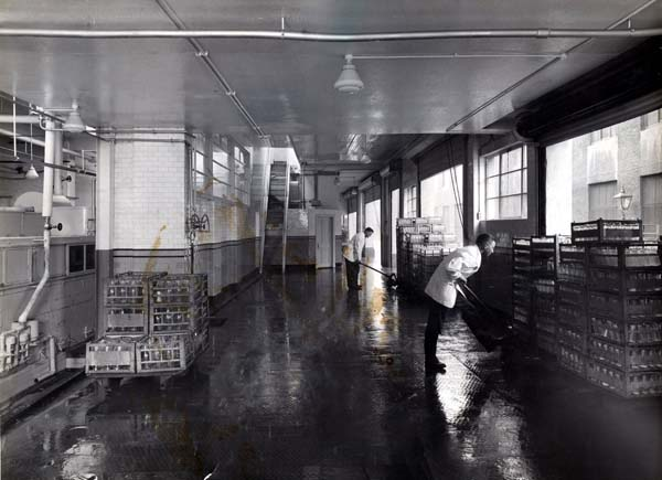 Shifting Crates Of Bottles At Leith Provident Dairy 1930s
