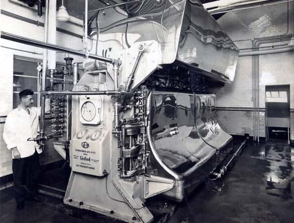 Man Operating Milk Treatment Machine At Leith Provident Dairy 1930s