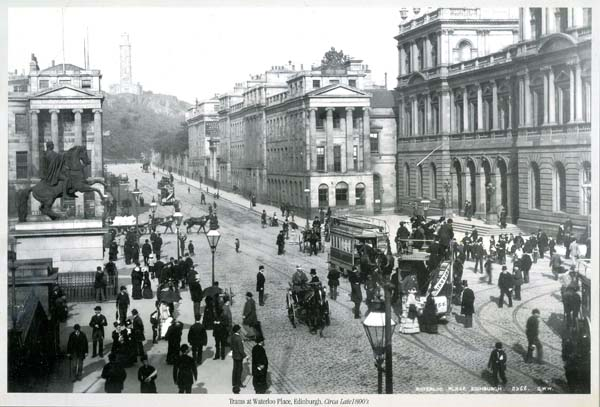 View Of Waterloo Place From East End Of Princes Street c.1890