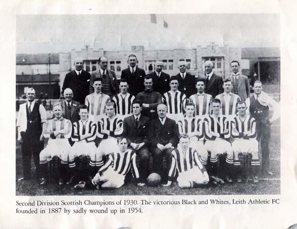 Leith Athletic Football Club Team 1930