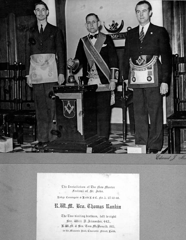 Installation Of The New Master Mason, Festival Of St John 1940s
