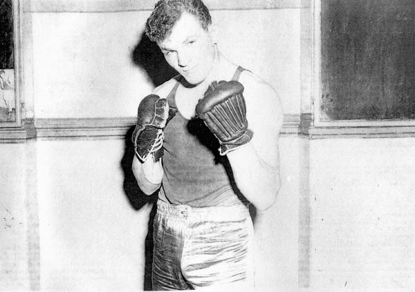Portrait Boxer With Gloves Up 1958