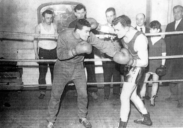 Boxers Sparring In The Ring 1958