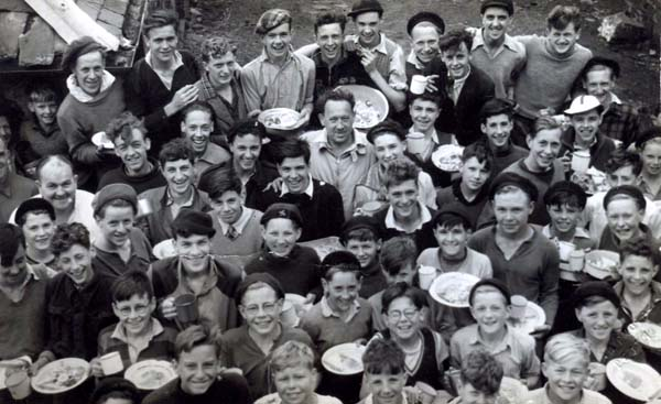 Grub Up! 1st Leith Boys Brigade On Summer Camp At Largs, August 1952