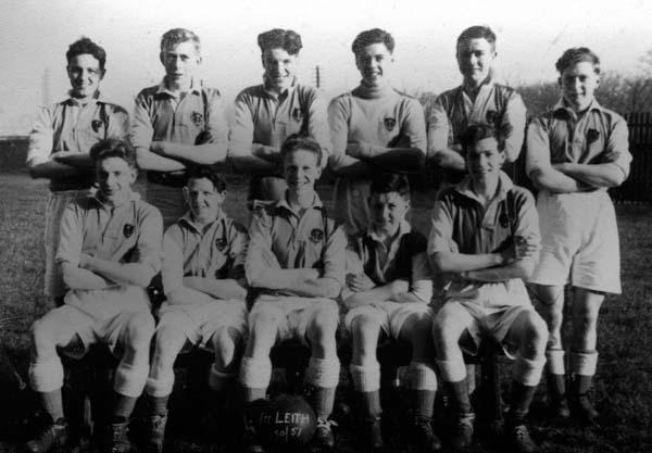 1st Leith Boys Bridgade Football Team 1950-51