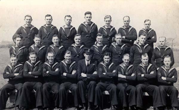 Group Portrait Sailors At HMS Collingwood c.1941