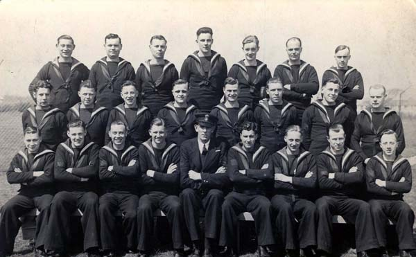 Group Portrait Sailors At HMS Collingwood c.1941