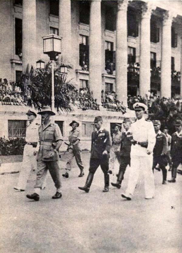 Japanese  Officers Surrendering At Malaya 1945