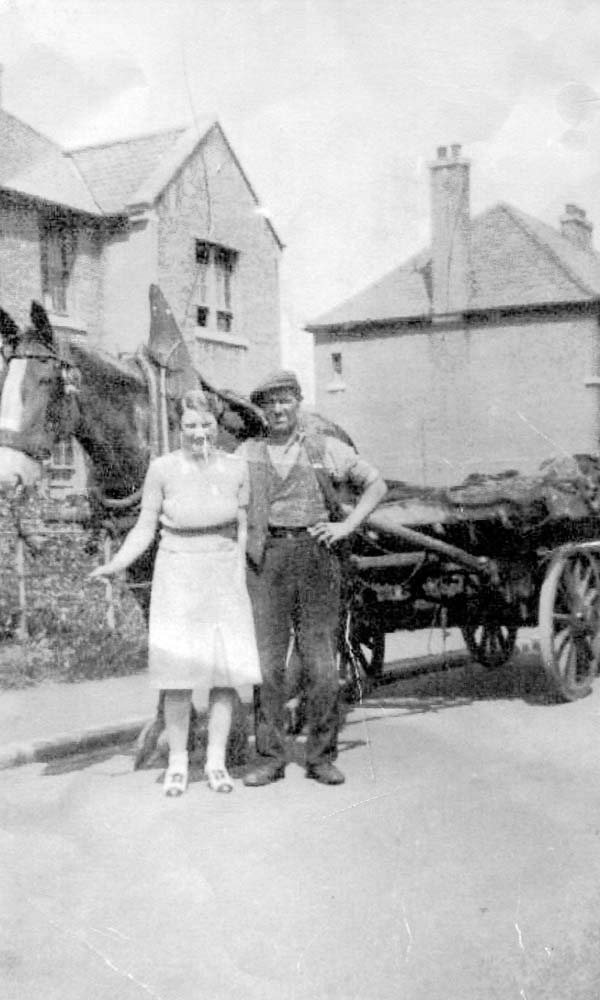 Coal Delivery Cart And Horse 1940s