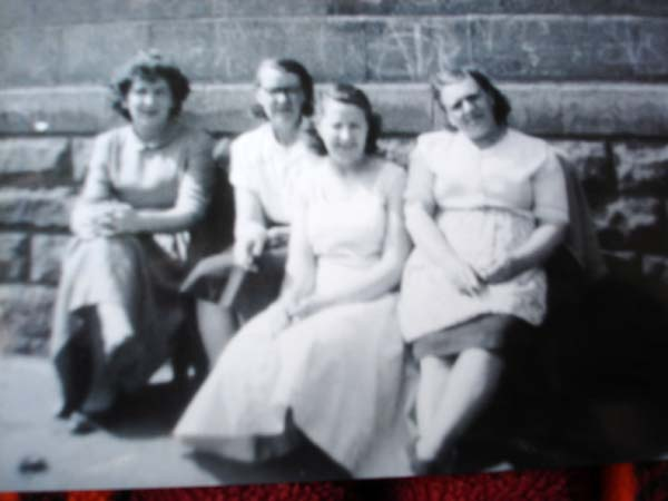 Four Women Sitting Outside Home At 147 Restalrig Road South c.1958