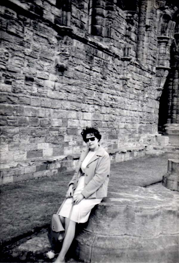 Woman Resting In Grounds Of Ruined  Abbey 1964