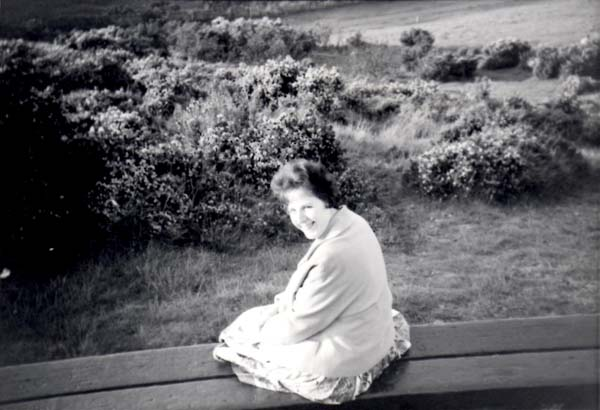 Young Woman Sitting On Bench At Hillend c.1964