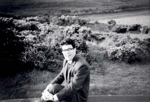Young Man Sitting On Bench At Hillend c.1964