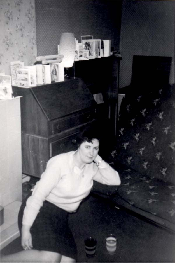 Young Woman At Home Sitting On Floor 1965