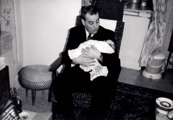 Grandfather Holding His Baby Granddaughter 1966