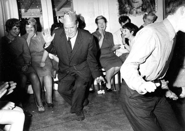 William Merrilees Takes To The Floor At Dunforth House c.1965