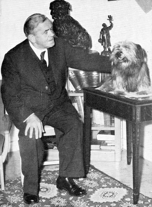 "William Merrilees with ""Greyfriar's Bobby"" c.1963"