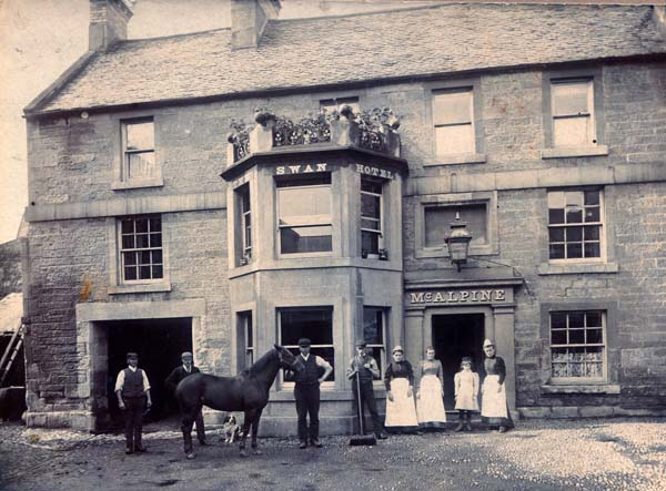 The Swan Hotel At Duns 1920s