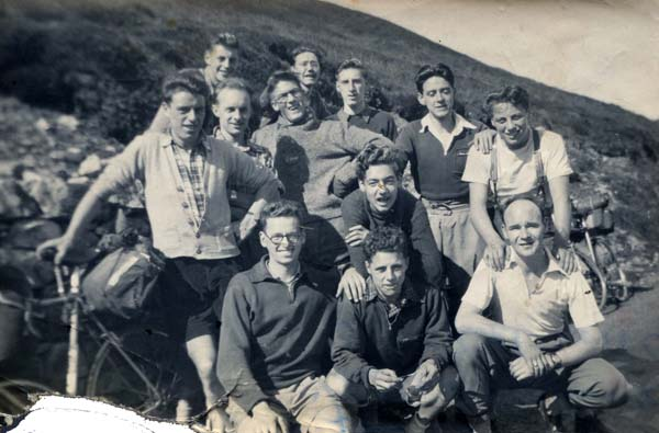 Clarion Cycling Club Members On Trip 1950s