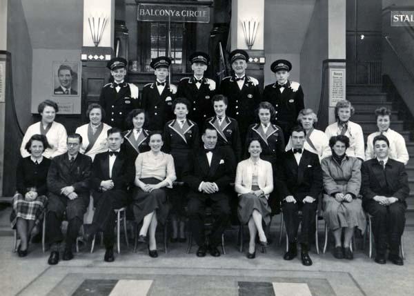 Staff of the Capitol Cinema, Manderston Street 1948