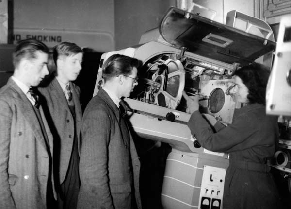 Projector Room At The Capitol Cinema 1948