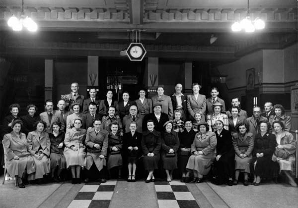 Staff of Capitol Cinema, Manderston Street, 1st June 1952