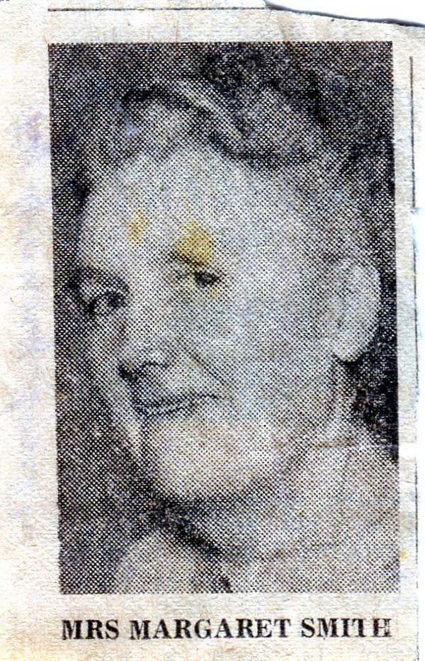 Newspaper Cutting On Retiral Of Bailie (Councillor) Margaret Smith c.1956