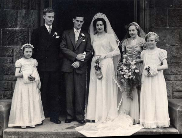 Couple On Their Wedding Day 1950s