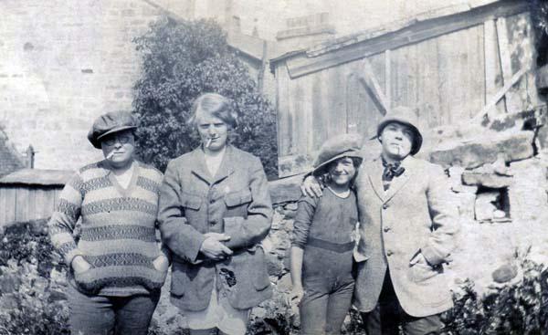 Four Girls In Fancy Dress Having A Smoke 1940s