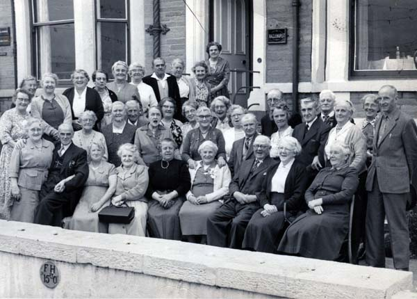 Group Of Elderlies 'On a Trip Somewhere' c.1970